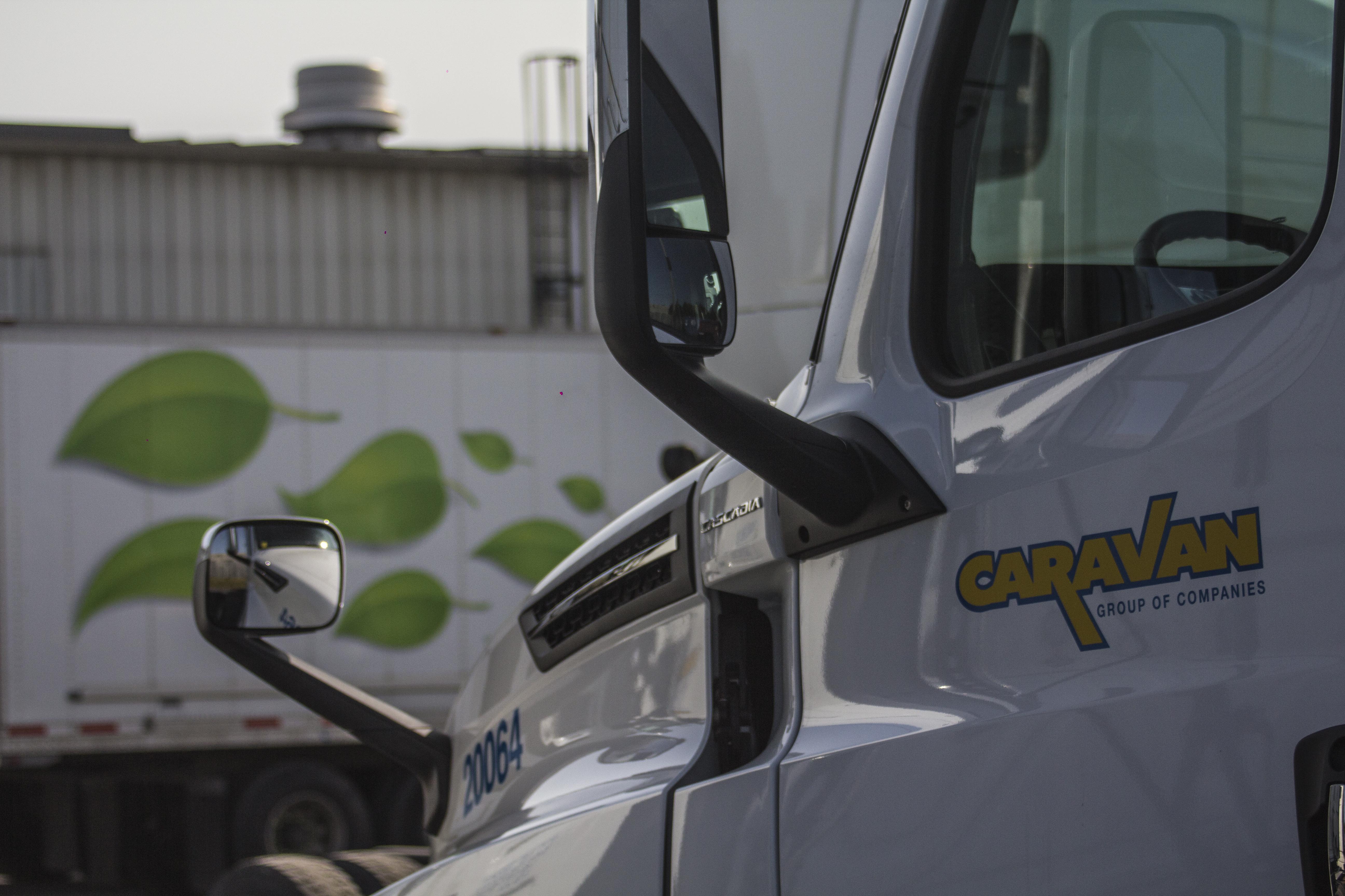 Caravan Going Green Freightliner Cascadia